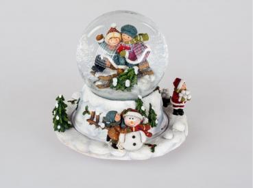 Haus Und Garten Schmuck Formano Spieluhr Schneekugel Led Licht