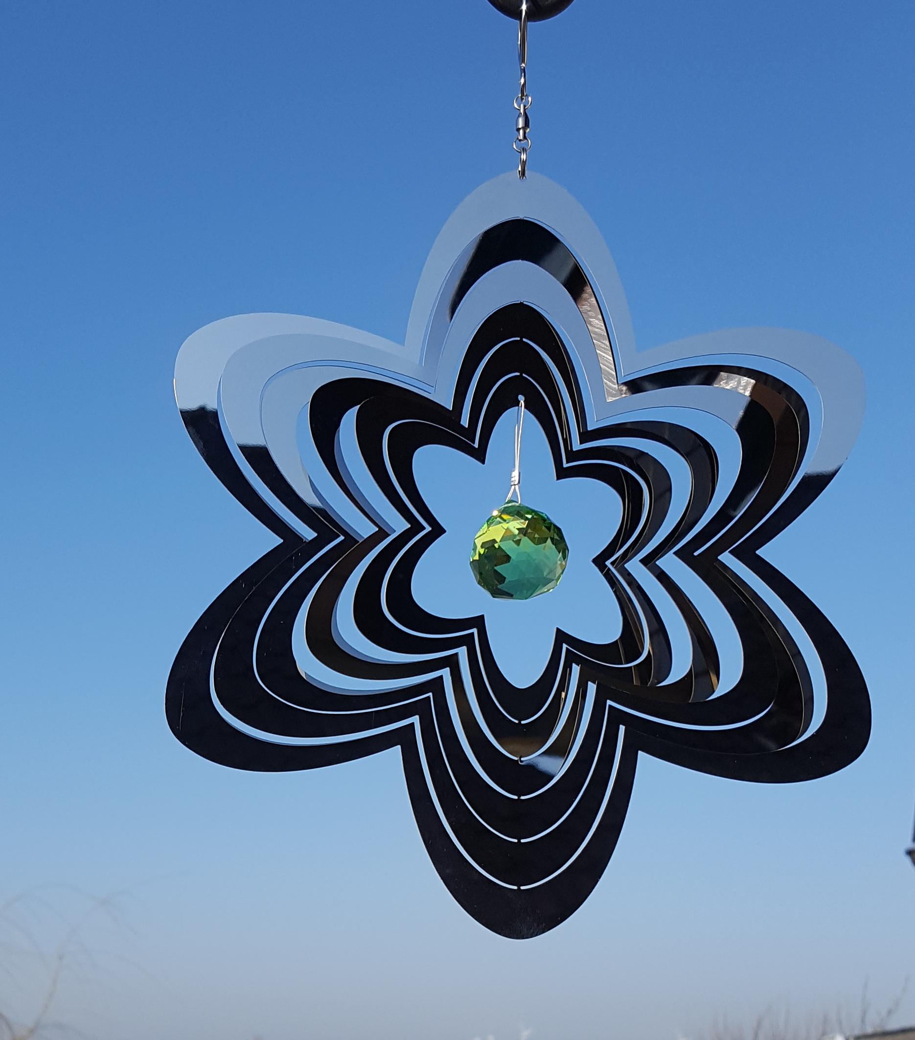 Haus und garten schmuck windspiel 3 d edelstahl mit for Windspiel edelstahl garten