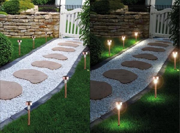 Haus und garten schmuck led solar leuchtst be 6er set im - Gartendekoration kupfer ...